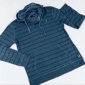 HURLEY Men's Striped Hooded Sweatshirt Sz XL